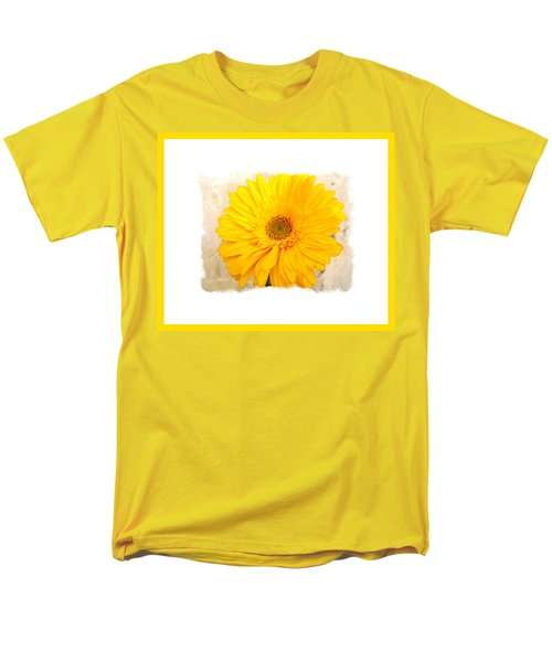 A Grand Yellow Gerber Men's T-Shirt  (Regular Fit) by Marsha Heiken
