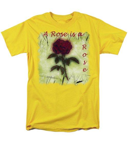 A Rose Men's T-Shirt  (Regular Fit) by John M Bailey