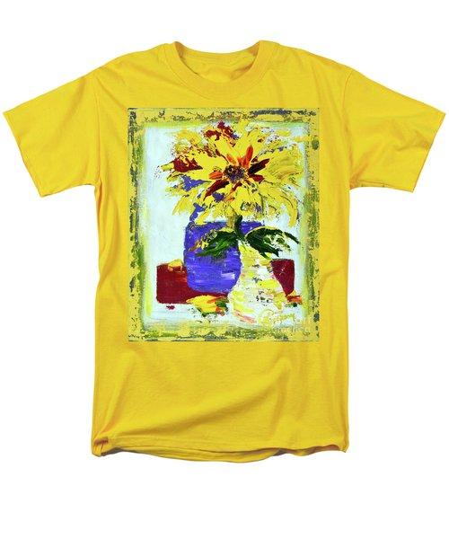 Abstract Sunflower Men's T-Shirt  (Regular Fit) by Lynda Cookson