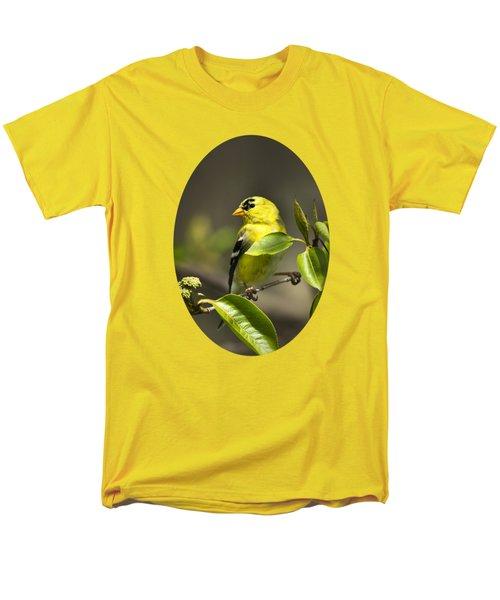 American Goldfinch On Branch Men's T-Shirt  (Regular Fit)
