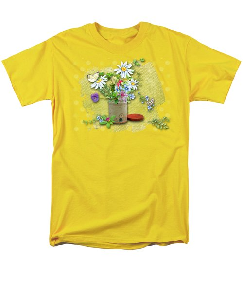 Antique Tin Of Flowers Men's T-Shirt  (Regular Fit) by Larry Bishop