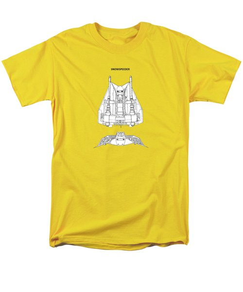Star Wars - Snowspeeder Patent Men's T-Shirt  (Regular Fit) by Mark Rogan