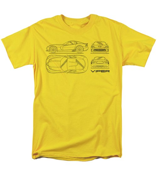Srt Viper Blueprint Men's T-Shirt  (Regular Fit) by Mark Rogan
