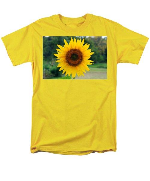 Men's T-Shirt  (Regular Fit) featuring the photograph August Sunflower by Jeff Severson