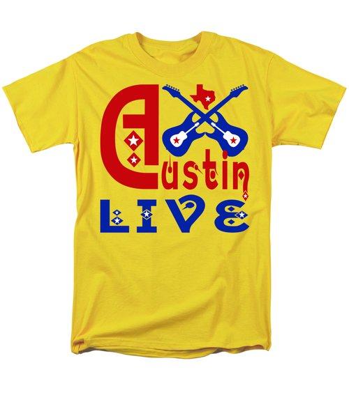 Austin Live Men's T-Shirt  (Regular Fit) by David G Paul