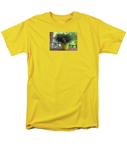 Men's T-Shirt  (Regular Fit) featuring the photograph Balcony Flowers by Susanne Van Hulst