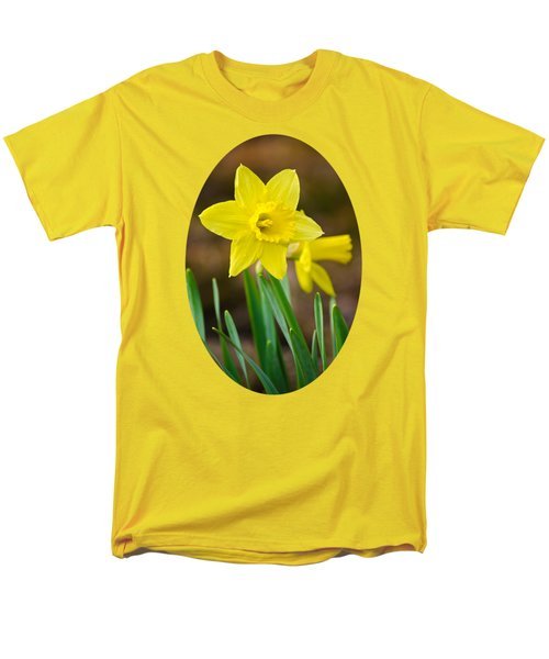 Beautiful Daffodil Flower Men's T-Shirt  (Regular Fit) by Christina Rollo