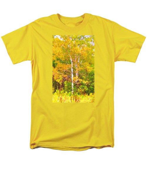Men's T-Shirt  (Regular Fit) featuring the photograph Birch Afire  by Susan Crossman Buscho