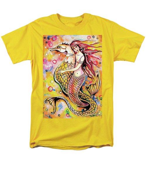 Black Sea Mermaid Men's T-Shirt  (Regular Fit)