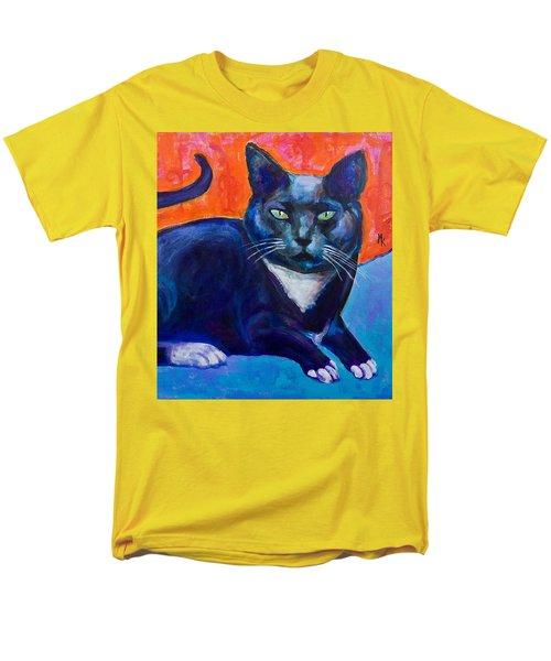 Blue Men's T-Shirt  (Regular Fit) by Maxim Komissarchik