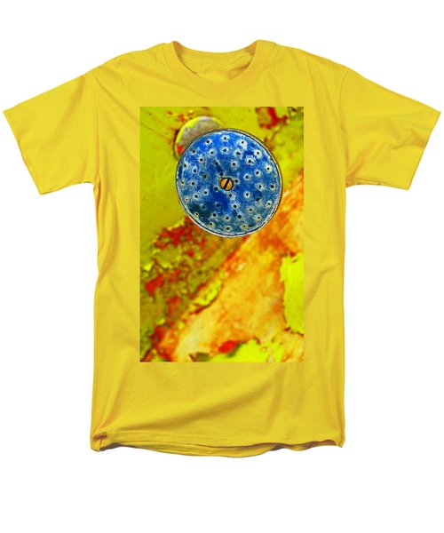 Men's T-Shirt  (Regular Fit) featuring the photograph Blue Shower Head by Skip Hunt