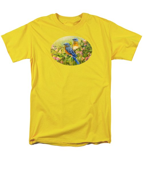 Bluebirds For T-shirts And Accessories Men's T-Shirt  (Regular Fit) by Loretta Luglio