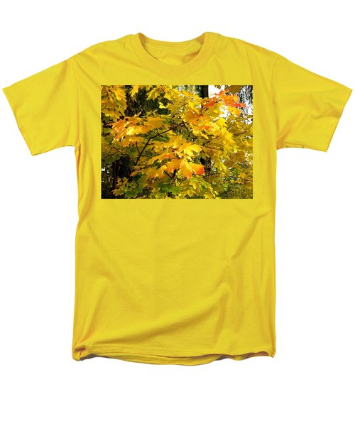 Men's T-Shirt  (Regular Fit) featuring the photograph Brilliant Maple Leaves by Will Borden