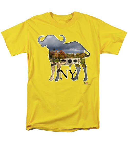Buffalo Ny Hoyt Lake Men's T-Shirt  (Regular Fit) by Michael Frank Jr