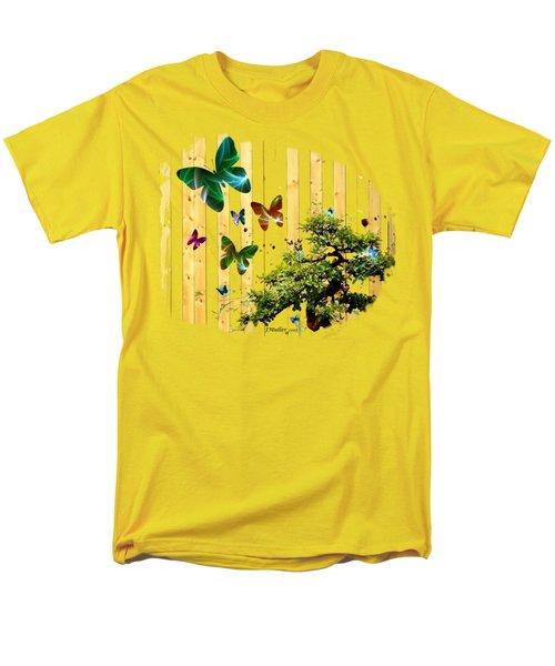Butterfly Garden Men's T-Shirt  (Regular Fit) by Jennifer Muller