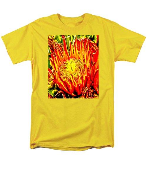 Cactus Flower Men's T-Shirt  (Regular Fit) by Judi Saunders