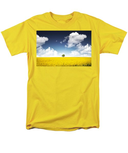 Canola Field Men's T-Shirt  (Regular Fit) by Bess Hamiti
