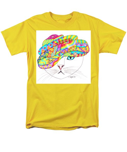 Cat With A Fancy Turban Men's T-Shirt  (Regular Fit) by Terry Taylor