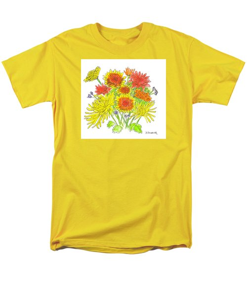 Chrysanthemums Men's T-Shirt  (Regular Fit) by Deborah Dendler