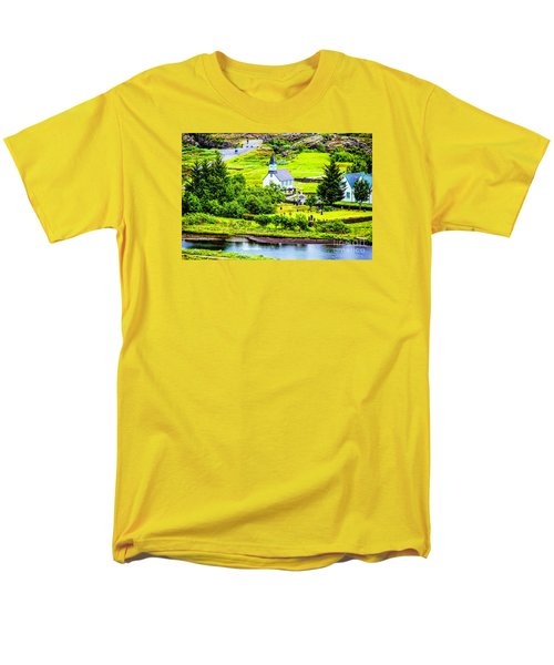 Men's T-Shirt  (Regular Fit) featuring the photograph Church On The Green by Rick Bragan