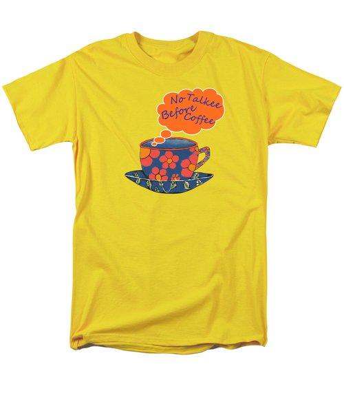 Coffee First Men's T-Shirt  (Regular Fit) by Kathleen Sartoris