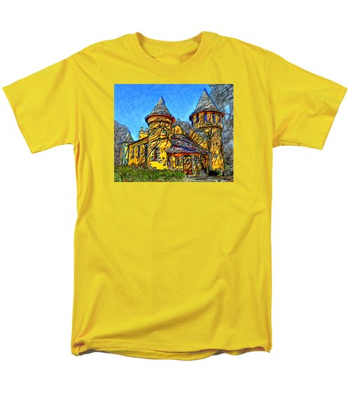 Colorful Curwood Castle Men's T-Shirt  (Regular Fit) by Bruce Nutting