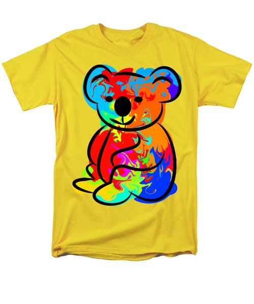 Colorful Koala Men's T-Shirt  (Regular Fit) by Chris Butler