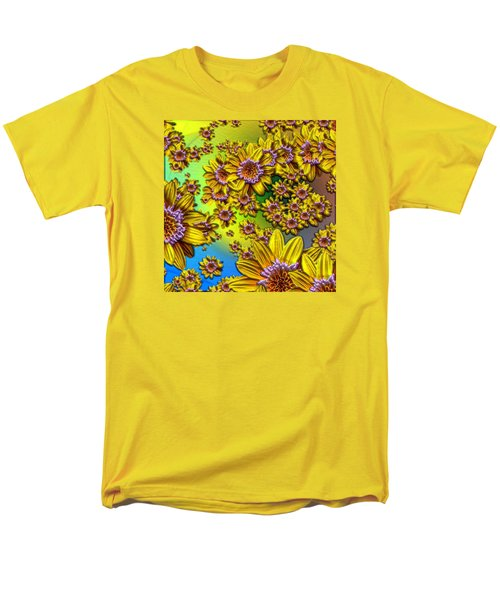 Crazy Daisies Men's T-Shirt  (Regular Fit) by Nick Kloepping