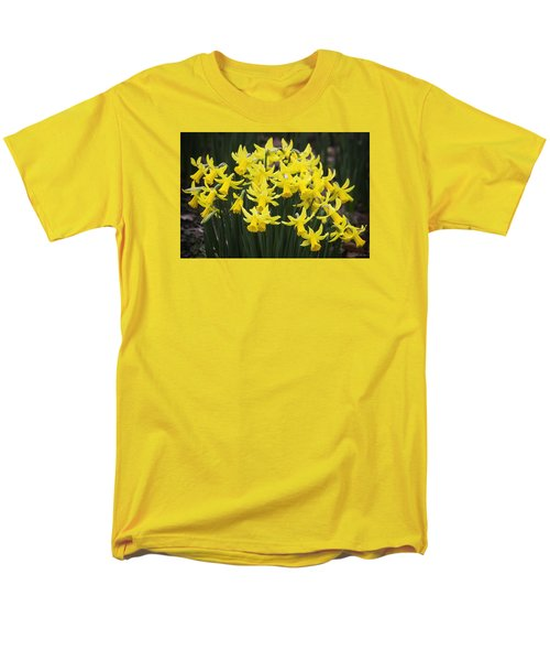 Daffodil Yellow Men's T-Shirt  (Regular Fit) by Shirley Mitchell
