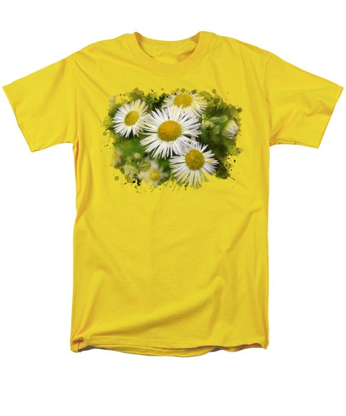 Daisy Watercolor Art Men's T-Shirt  (Regular Fit) by Christina Rollo