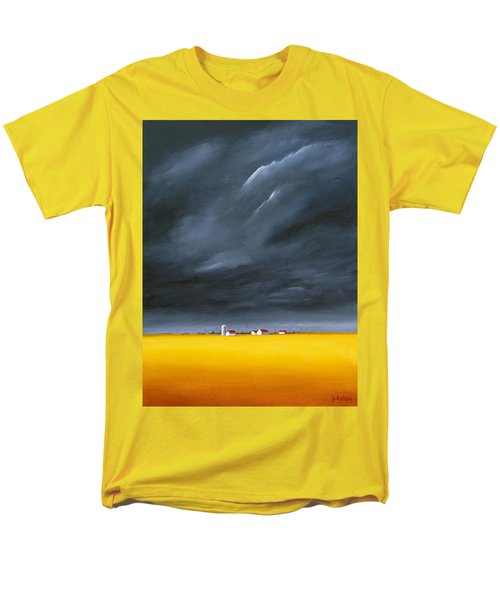 Men's T-Shirt  (Regular Fit) featuring the painting Dark And Stormy by Jo Appleby