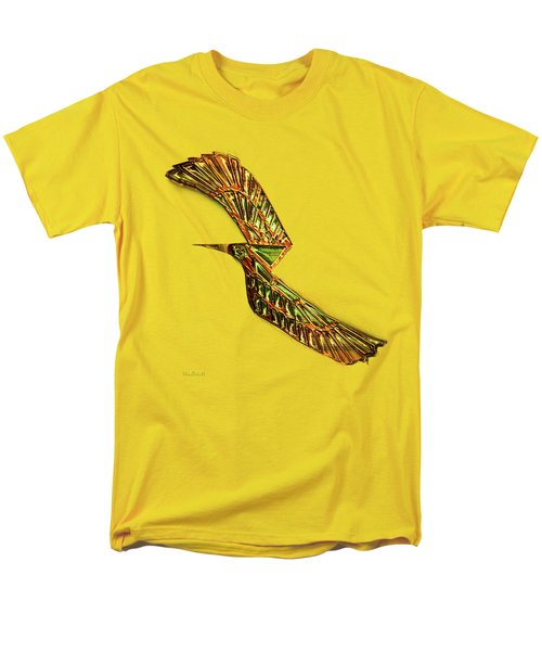 Men's T-Shirt  (Regular Fit) featuring the digital art Emerald Wings by Asok Mukhopadhyay
