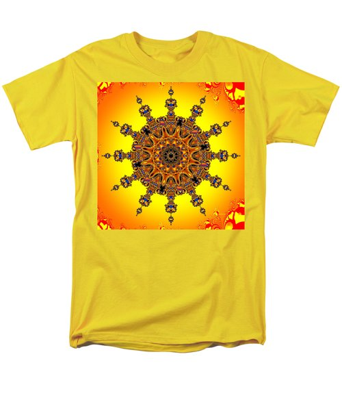 Men's T-Shirt  (Regular Fit) featuring the digital art Energy Star by Robert Orinski