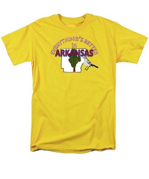 Everything's Better In Arkansas Men's T-Shirt  (Regular Fit) by Pharris Art