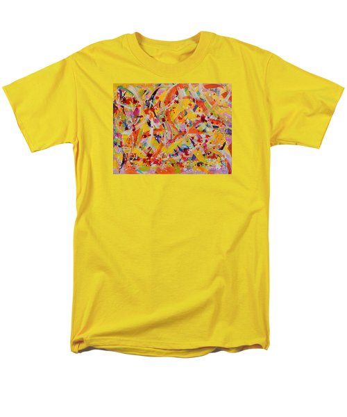 Men's T-Shirt  (Regular Fit) featuring the painting Everywhere There Are Fish by Lyn Olsen