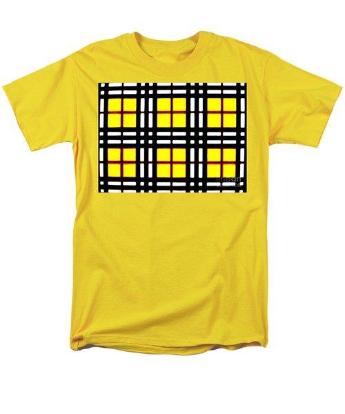 Expanding Plaid Men's T-Shirt  (Regular Fit) by Tim Townsend