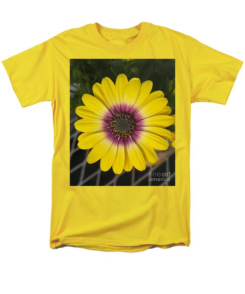 Fascinating Yellow Flower Men's T-Shirt  (Regular Fit) by Jasna Gopic