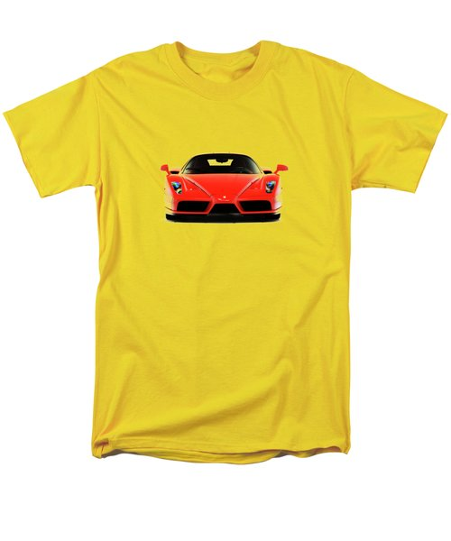 Ferrari Enzo Ferrari Men's T-Shirt  (Regular Fit) by Mark Rogan
