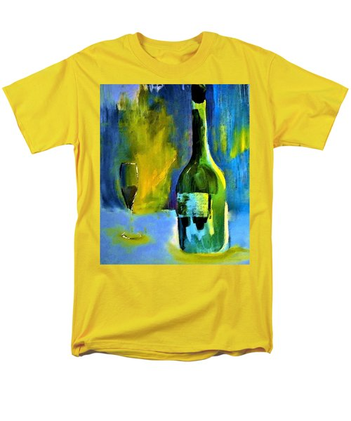 Men's T-Shirt  (Regular Fit) featuring the painting Fine Wine Glow by Lisa Kaiser