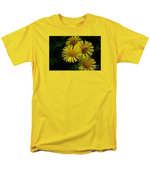 Fireworks In Yellow Men's T-Shirt  (Regular Fit) by John S