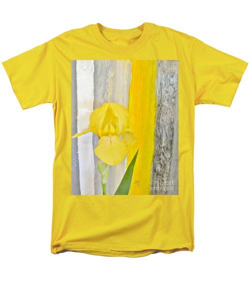 First Yellow Iris Men's T-Shirt  (Regular Fit) by Marsha Heiken