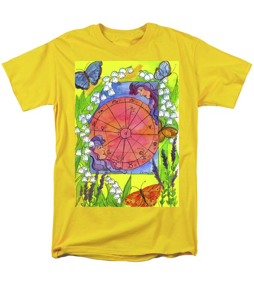 Men's T-Shirt  (Regular Fit) featuring the painting Gemini by Cathie Richardson