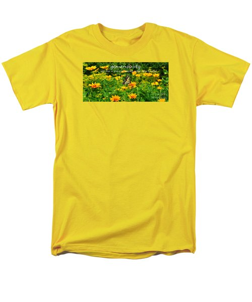 Men's T-Shirt  (Regular Fit) featuring the photograph Gen Er Os I Ty  by Diane E Berry