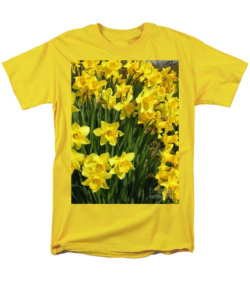 Men's T-Shirt  (Regular Fit) featuring the photograph Golden Daffodils by Phil Banks