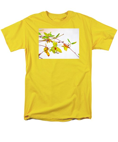 Green Twigs And Leaves Men's T-Shirt  (Regular Fit) by Craig Walters