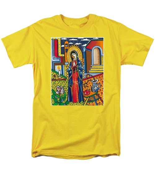 Guadalupe Visits Picasso Men's T-Shirt  (Regular Fit) by James Roderick