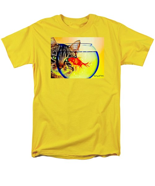 Men's T-Shirt  (Regular Fit) featuring the painting Guess Who's Coming To Dinner? by Ted Azriel