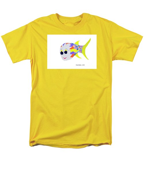Happy Fish Touring Men's T-Shirt  (Regular Fit) by Fred Jinkins