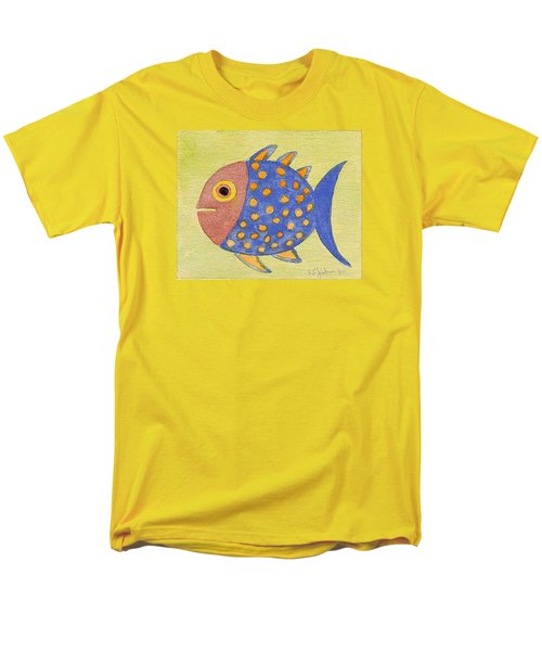 Happy Speckled Fish Men's T-Shirt  (Regular Fit) by Fred Jinkins