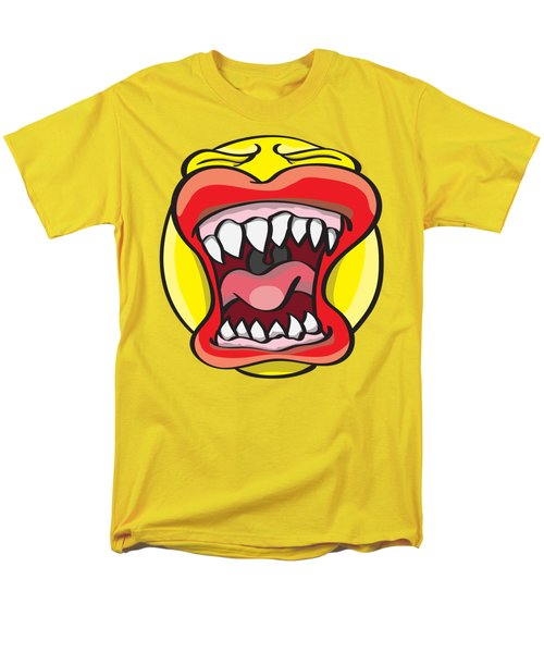 Men's T-Shirt  (Regular Fit) featuring the drawing Hungry Pacman by Jorgo Photography - Wall Art Gallery